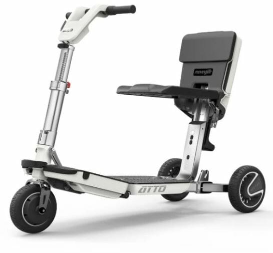 3 wheel foldable electric scooter with seat