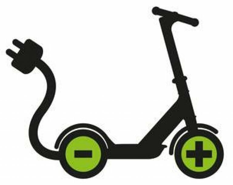 How do I know if my electric scooter is charging?