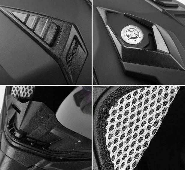 ILM Off Road Motorcycle Dual Sport Helmet Full Face Sun Visor Dirt Bike ATV Motocross Casco DOT Certified